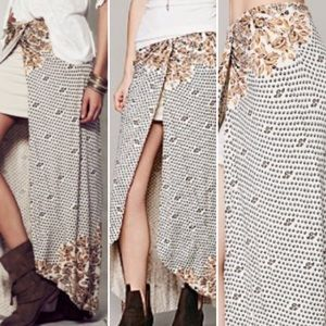 Free People Printed Knit Column Maxi Skirt